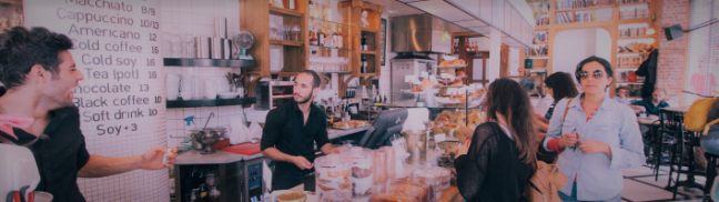 Customers in a coffee shop